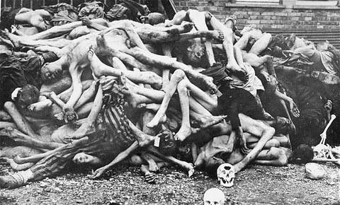 Dead Bodies Piled Up at Auschwitz